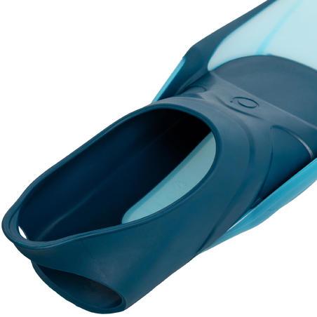 Kit Aletas Máscara Tubo Snorkel Snk 500 Adulto Azul