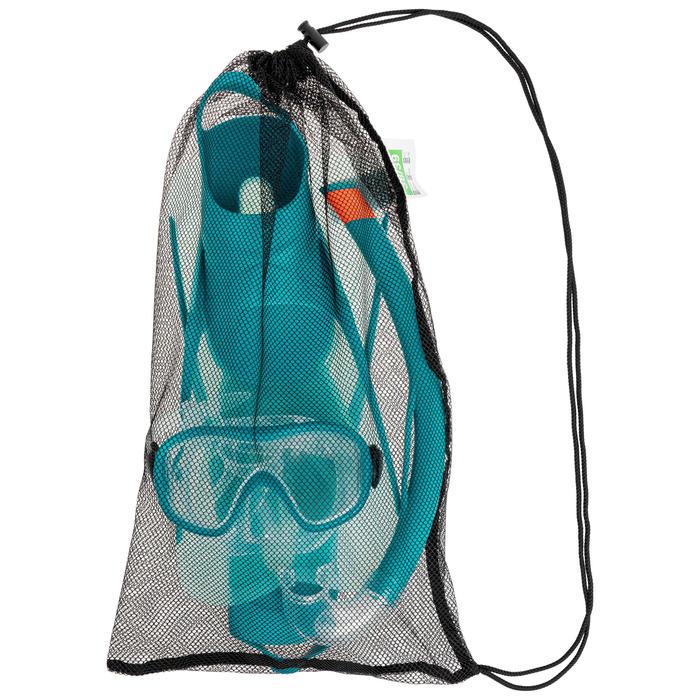 Set met zwemvliezen, duikbril en snorkel voor volwassenen SNK 500 pastelmint