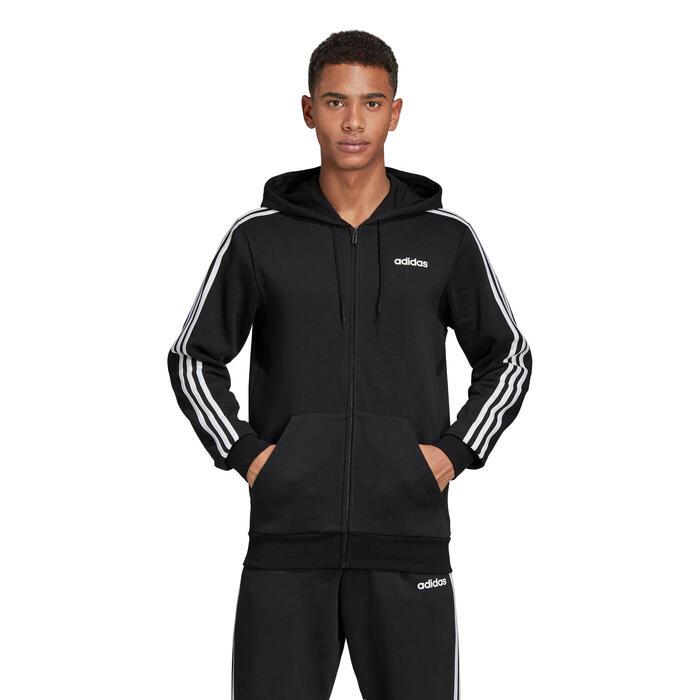 Veste Adidas 3S 500 Pilates Gym douce noir homme