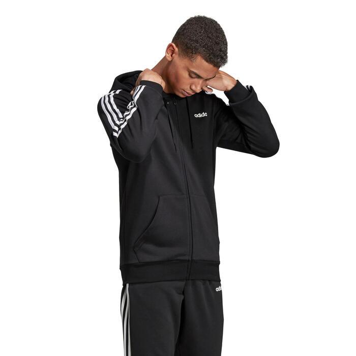Correo aéreo cocaína futuro  Sudadera Adidas 3S 500 hombre con capucha negro blanco Adidas   Decathlon