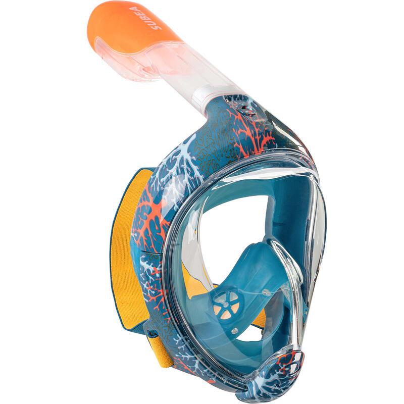 Mască Snorkeling la Suprafață Easybreath Corai Copii 6-10 ani Mărimea XS