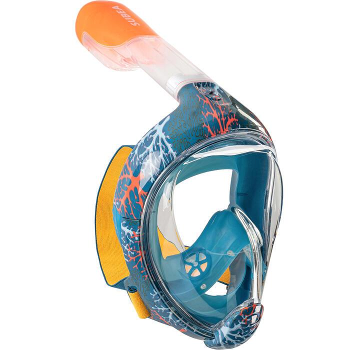 Masque de snorkeling en surface Easybreath Junior (6-10ans / taille XS) corail