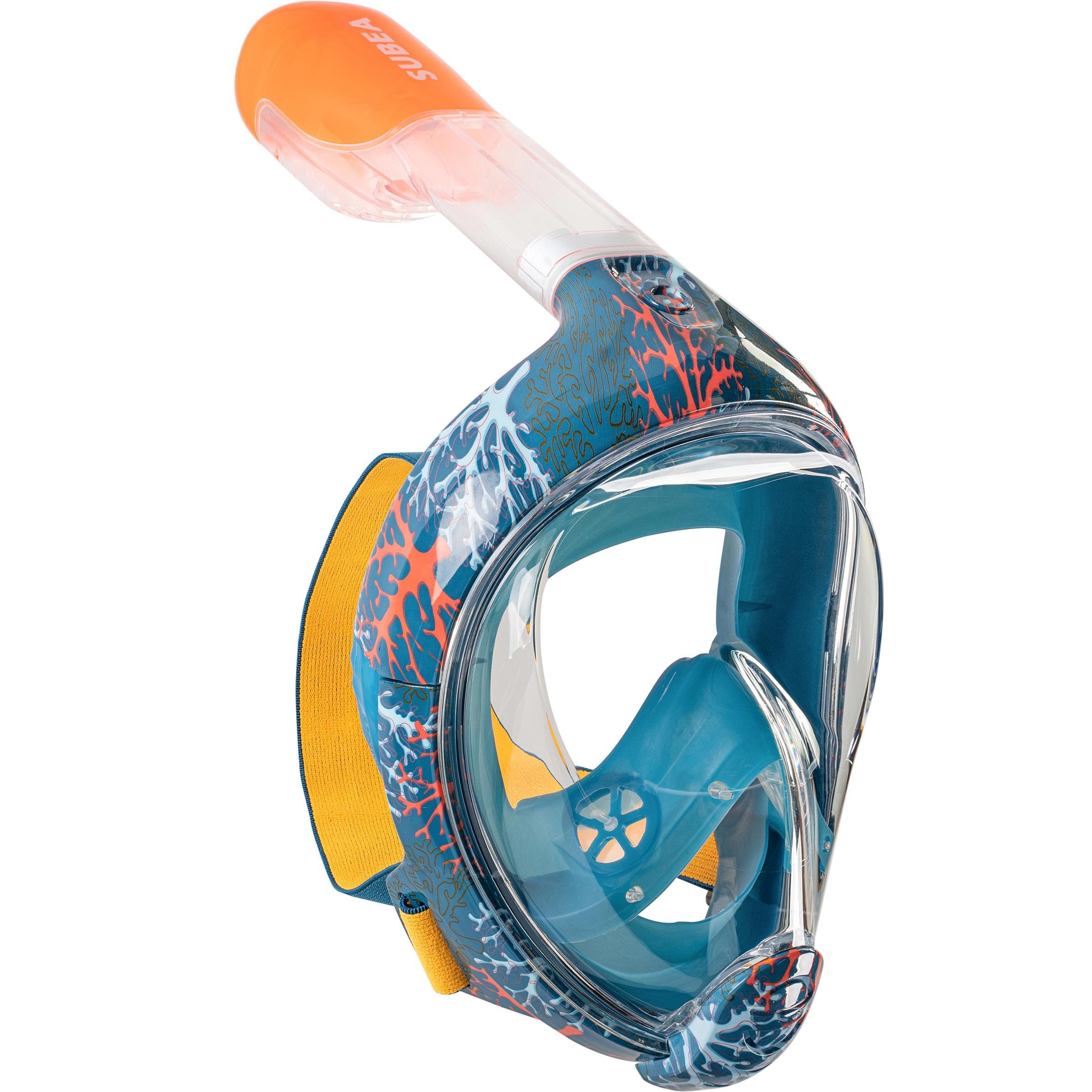Snorkelmasker voor kinderen (6-10 jaar / maat xs) easybreath koraal