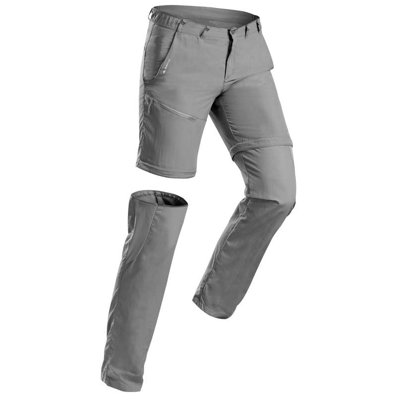 PANTALONI TS ML DRUMEȚII MUNTE BĂRBAT Drumetie, Trekking - Pantalon Modulabil  MH150 QUECHUA - Imbracaminte