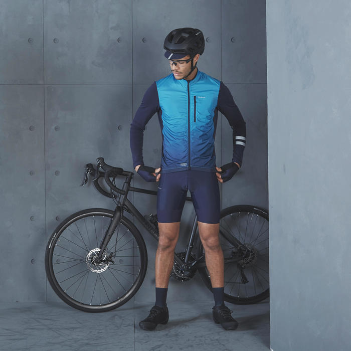 Long-Sleeved Road Cycling Jersey RC500 Shield