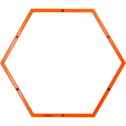 Cerceau hexagonal orange 58 cm