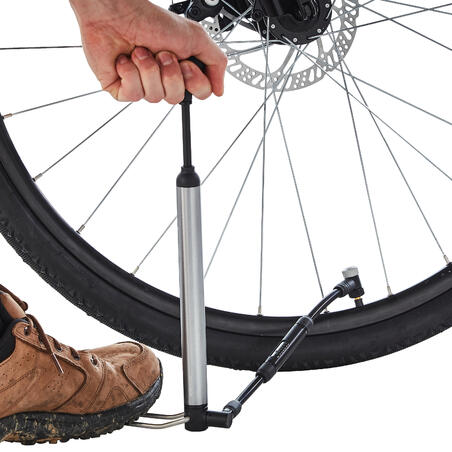 Hibridinė dviračio rankinė ir kojinė pompa