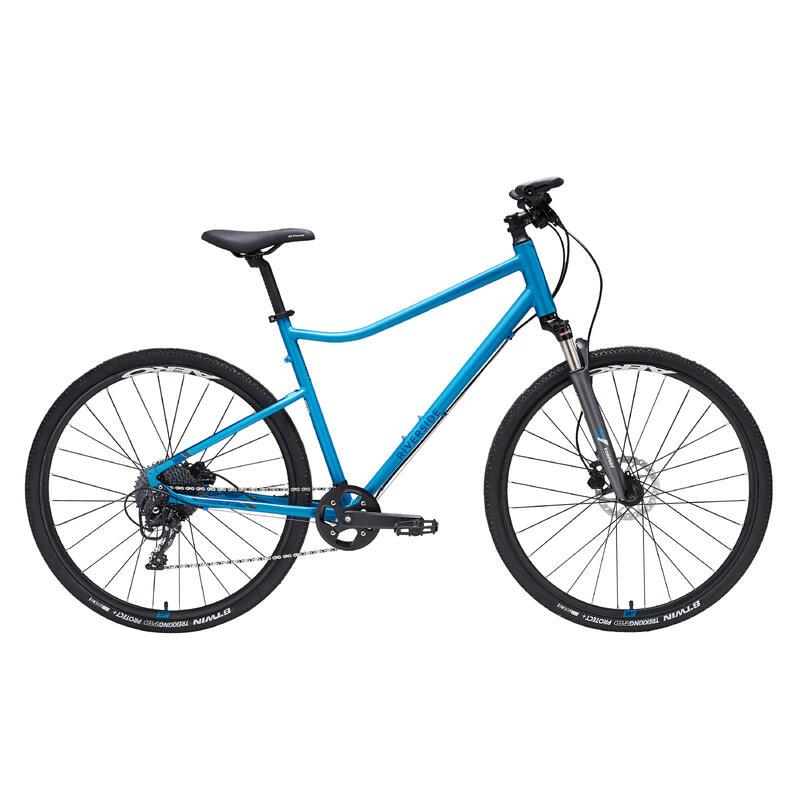Hybride fiets Riverside 900 blauw