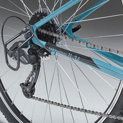 Hybridefiets Riverside 120 blauw