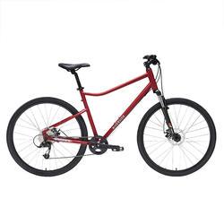 Hybride fiets Riverside 500 bordeaux