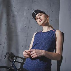 Mouwloos wielershirt dames 500 marineblauw