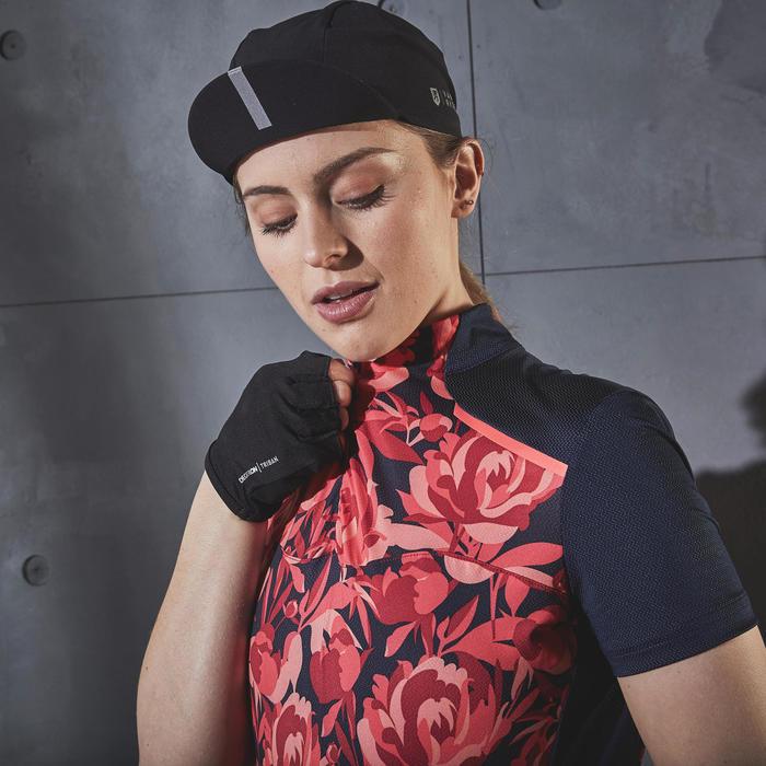 Wielershirt dames RC500 met korte mouwen floral roze