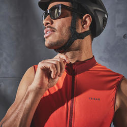 MAILLOT SANS MANCHES VELO ROUTE HOMME RC500 ROUGE