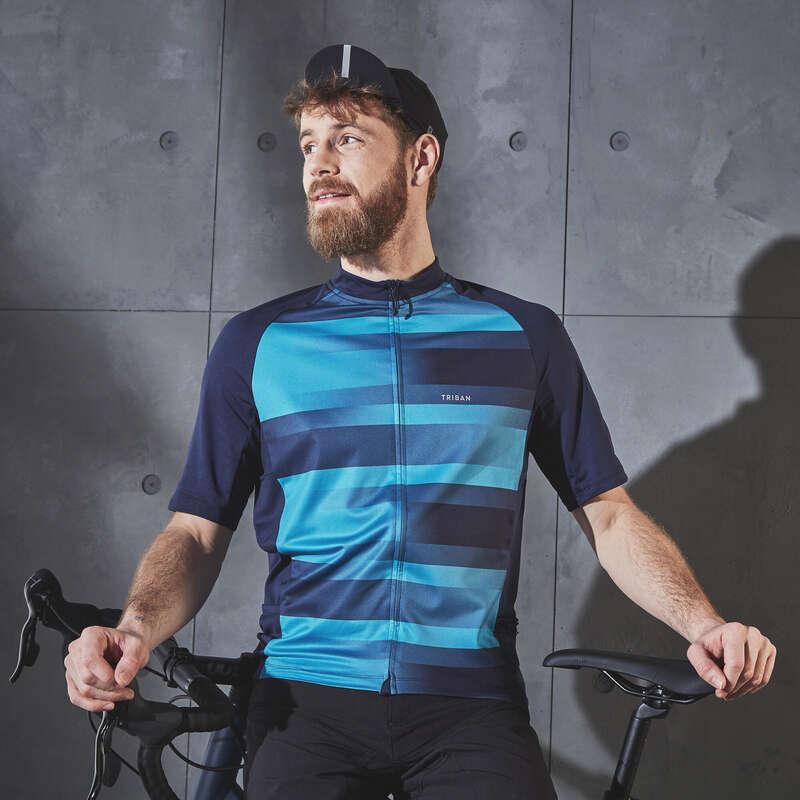 KLÄDER LANDSVÄGSCYKLING CYKELTURISM VARM Cykelsport - Cykeltröja kort ärm RC100 Herr TRIBAN - Cykeltröjor och T-shirts