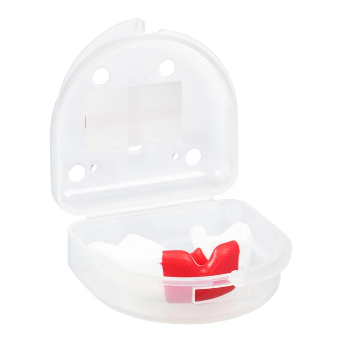 Protège dents de rugby GILBERT junior blanc rouge