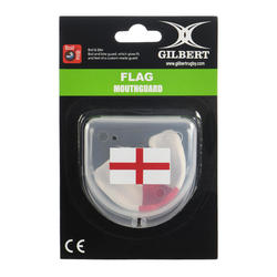 Protège dents de rugby GILBERT adulte blanc rouge
