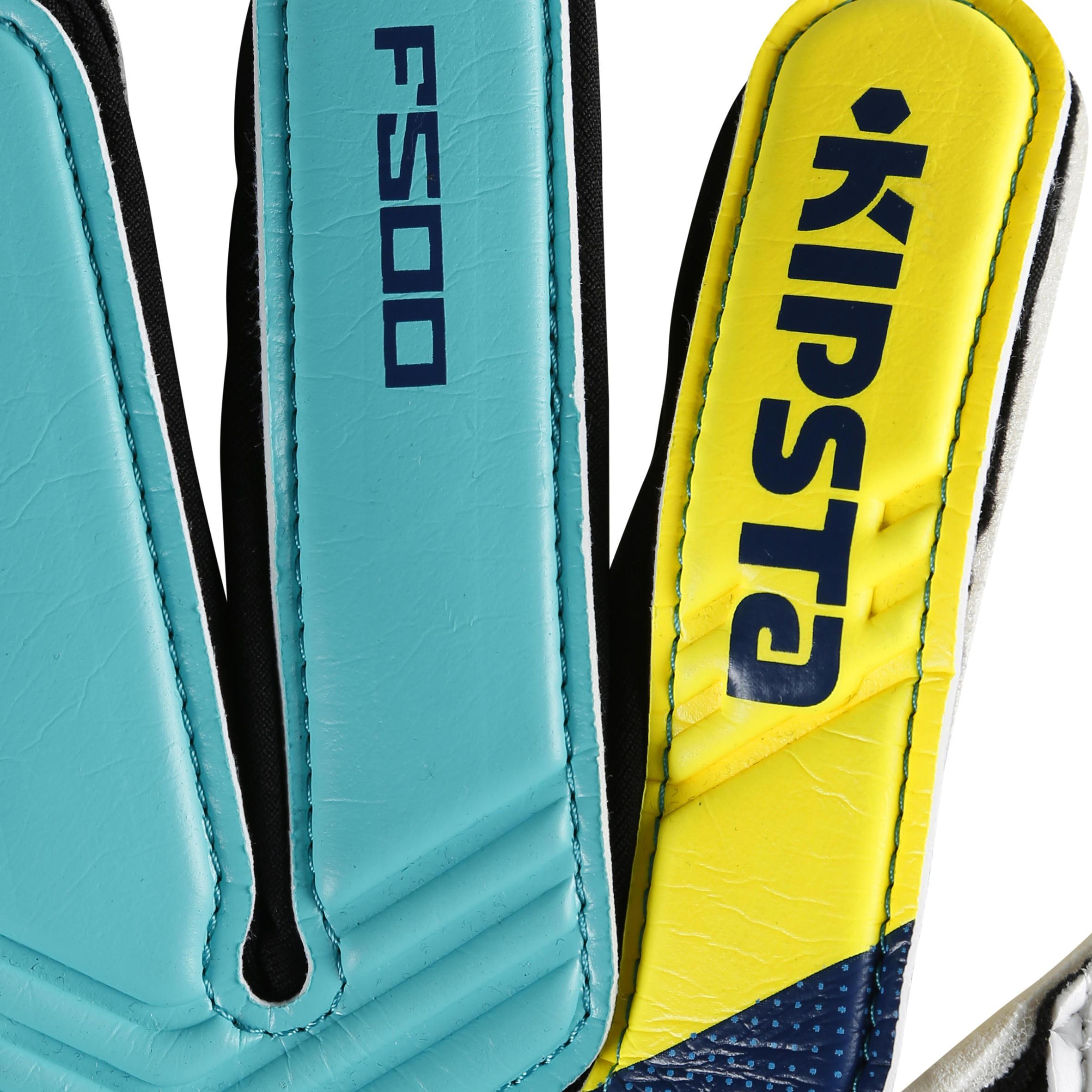 F500 Adult Goalkeeper Glove - Blue Yellow