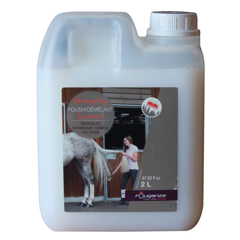 HORSE CARE Horse Riding - DETANGLER & SHINE MANE AND TAIL CONDITIONER  FOUGANZA - Horse Riding