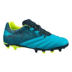Rugbyschoenen met vaste noppen voor droog terrein kinderen R500 blauw
