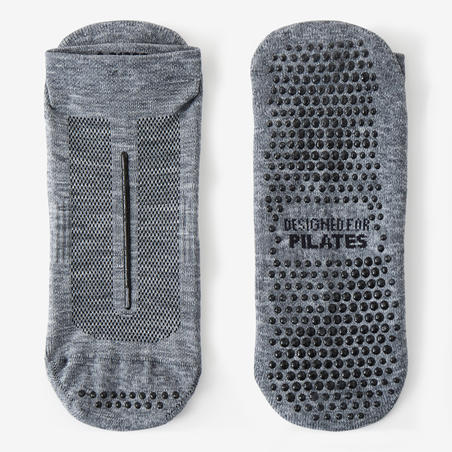 Calcetines antideslizantes Sport Pilates hombre Gris