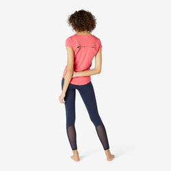 T-shirt Sport Pilates Gym Douce Femme 520 Rose