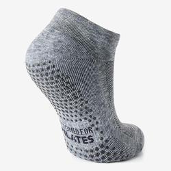 男款皮拉提斯防滑運動襪 - 灰色