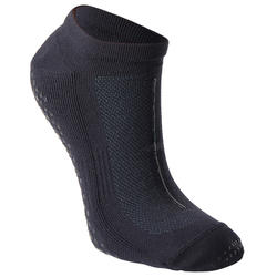 男款皮拉提斯防滑運動襪 - 黑色