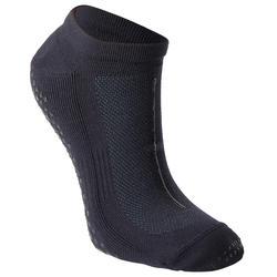 Calcetines antideslizantes Fitness transpirables negro