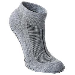 Antislip sokken voor fitness ademend grijs