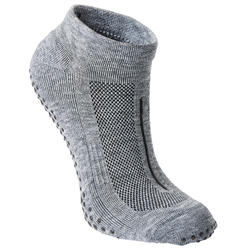 Calcetines antideslizantes Fitness transpirables gris