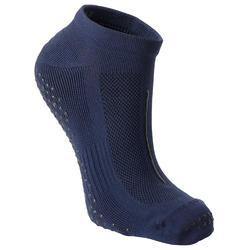Antislip sokken voor pilates heren marineblauw