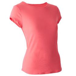 T-shirt Sport Pilates Gym Douce Femme 520 Rose