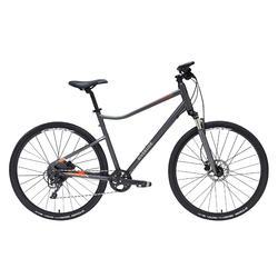 Hybride fiets Riverside 900 donkergrijs