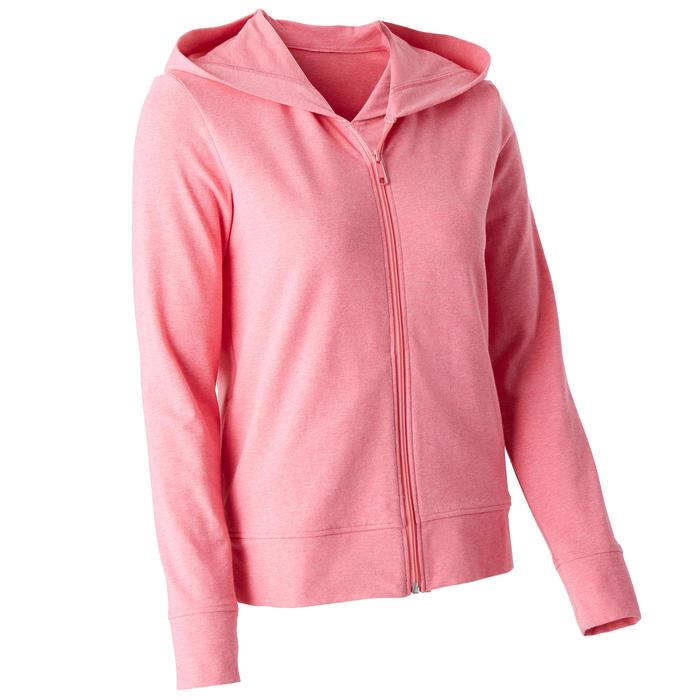 Trainingshoodie met rits voor dames 100 roze