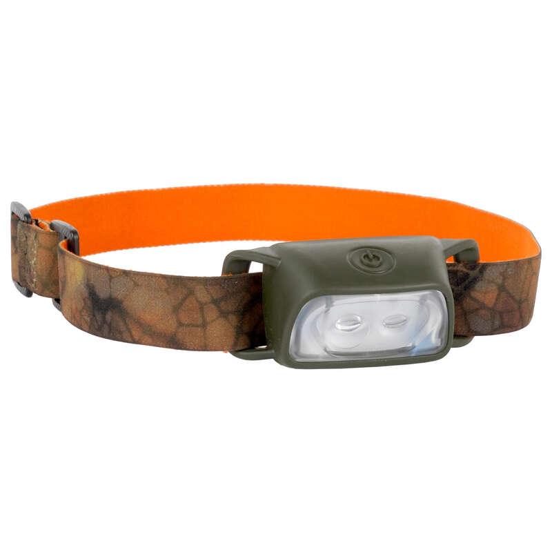 BINOCULARS/FLASHLIGHT Shooting and Hunting - Headlamp 100 Furtiv  SOLOGNAC - Shooting and Hunting