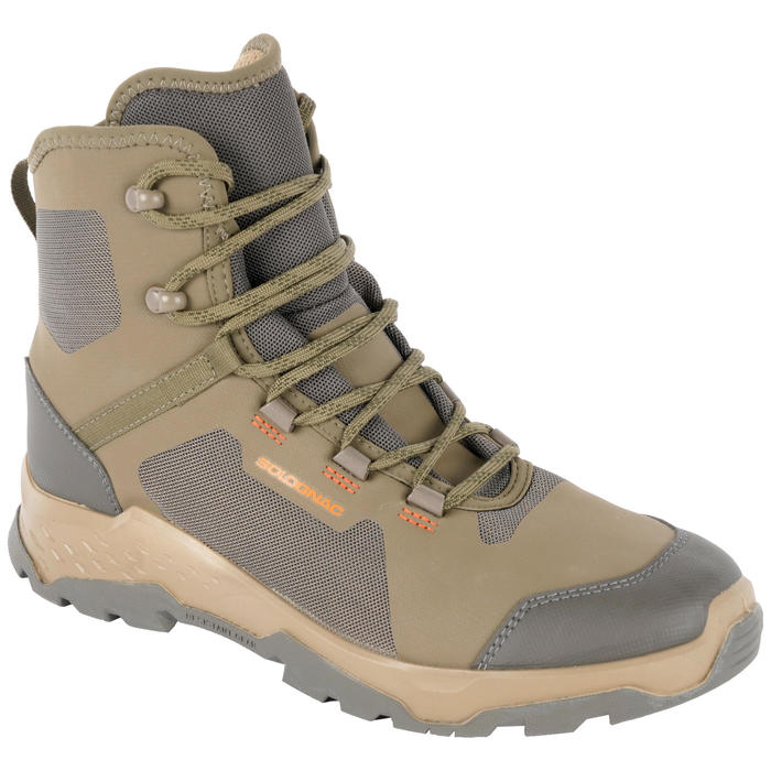 Chaussures Chasse Silencieuses Respirantes Marron 500