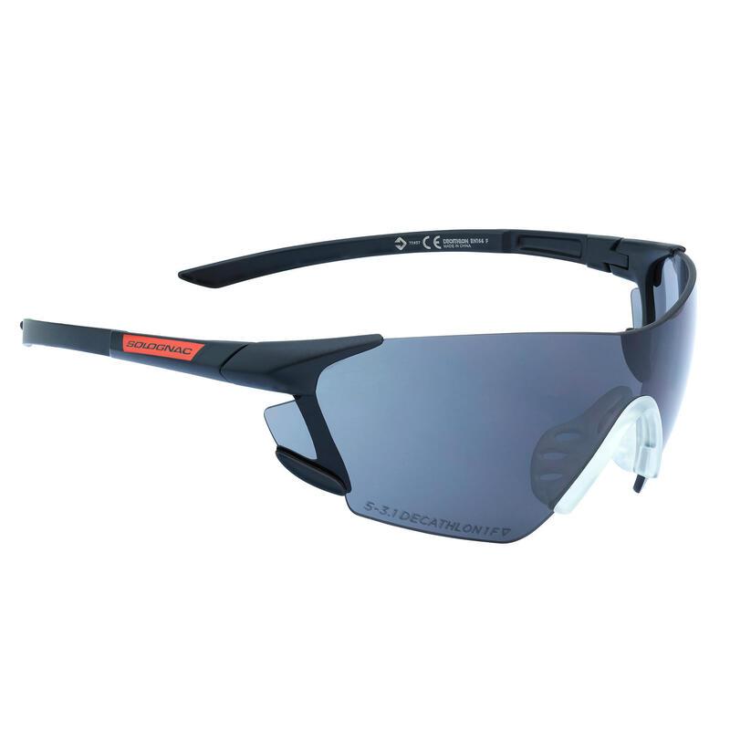 Veiligheidsbril voor sportschieten en jacht zonwerend glas