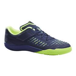 Chaussures de Futsal enfant GINKA 500 bleu foncé