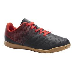 Sapatilhas de Futsal Criança 100 Preto/Vermelho