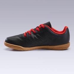 Chaussures de Futsal enfant 100 noir rouge