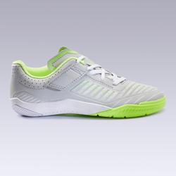 Chaussures de Futsal enfant GINKA 500 gris clair