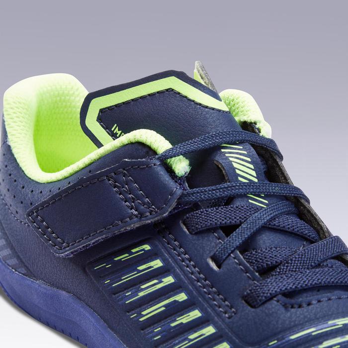 兒童款石地足球鞋Ginka 500-深藍色