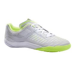 Scarpe futsal bambino GINKA 500 grigio chiaro