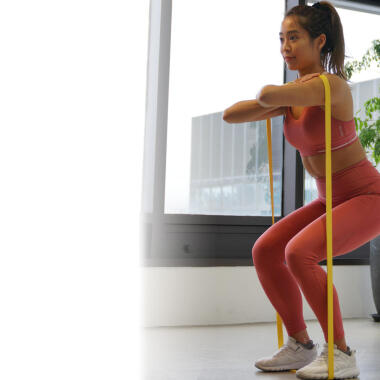 Basic elastic training band exercises at home