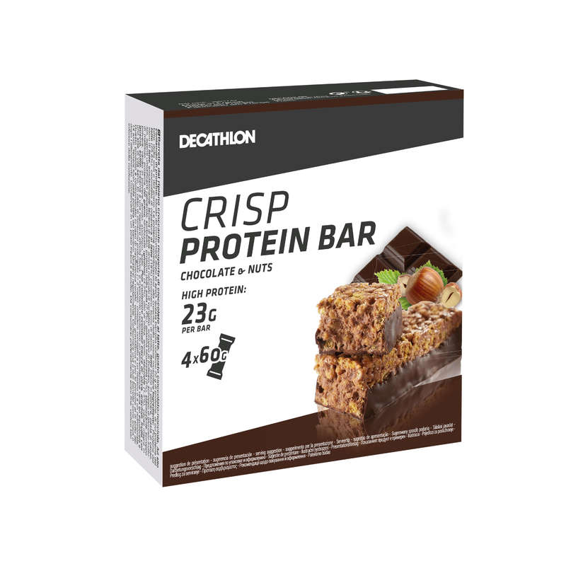 PROTEINS AND SUPPLEMENTS Boxing - Crisp Protein Bar 4-Pack Choco DOMYOS - Boxing Nutrition