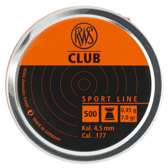 Perdigones Tiro Deportivo Rws Club 10 Plano Calibre 4.5 mm 500 Unidades