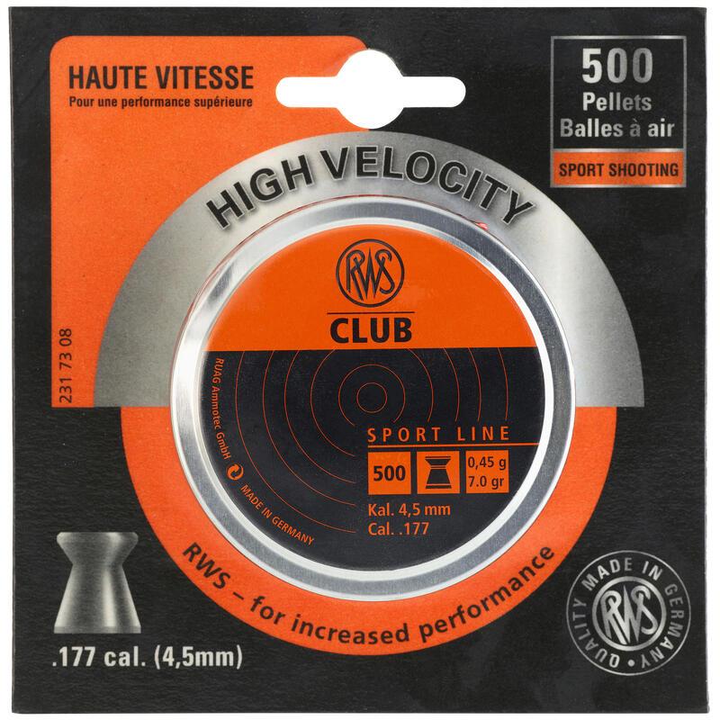 Plombs 4,5mm air comprimé CLUB RWS X500