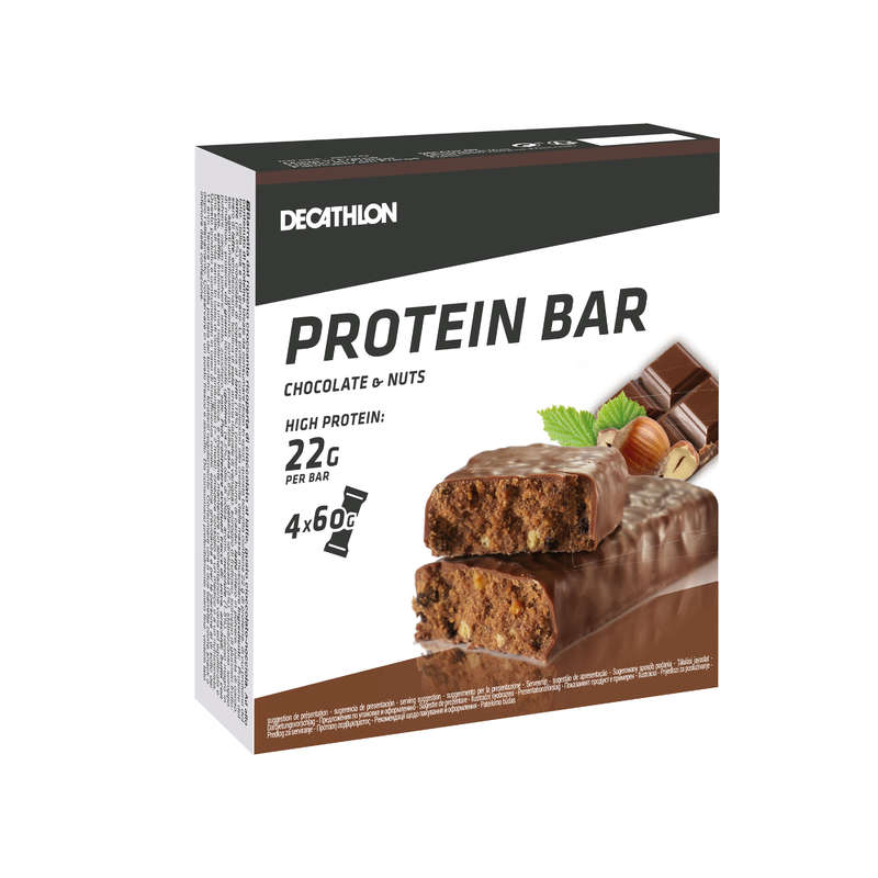 PROTEINS AND SUPPLEMENTS Boxing - Protein Bar 4-Pack Choco-Nuts DOMYOS - Boxing Nutrition