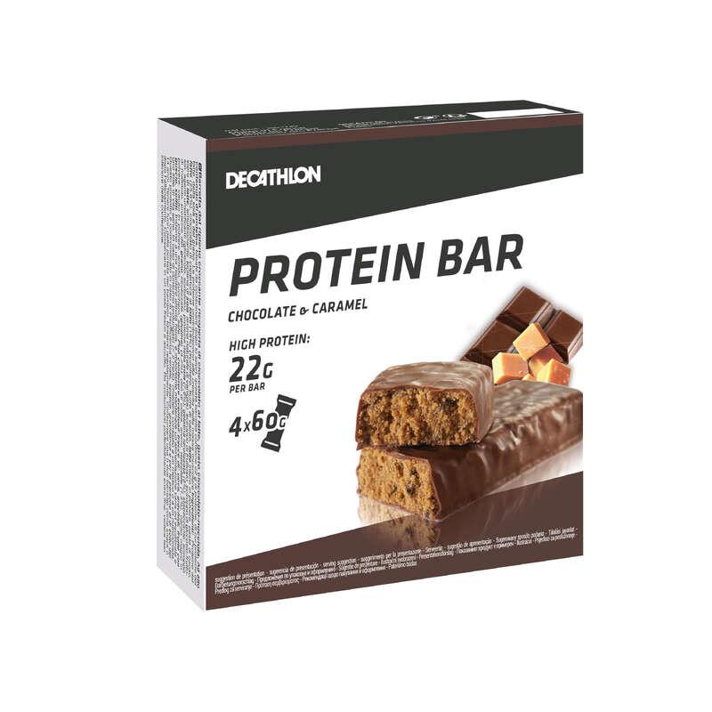 PROTEIN & KOSTTILLSKOTT Kost och Hälsa - PROTEIN BAR choklad-kola x4 DOMYOS - Protein, Kosttillskott