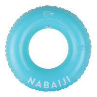 Inflatable swim ring 92cm yellow blue large size with rapid-inflation valve